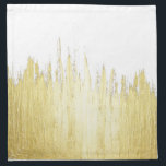 "Paint Strokes in Faux Gold Cloth Napkin<br><div class=""desc"">This faux gold paint strokes on customizable background (just hit &quot;customize it&quot; and then choose a background color) is great for the trendy and stylish individual. It&#39;s upscale and swanky feel is great for any occasion or gift.</div>"