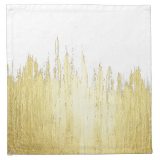 Paint Strokes in Faux Gold Cloth Napkin
