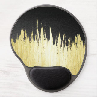 Paint Strokes in Faux Gold on Black Gel Mouse Pad