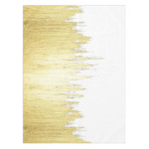 Paint Strokes in Faux Gold Tablecloth