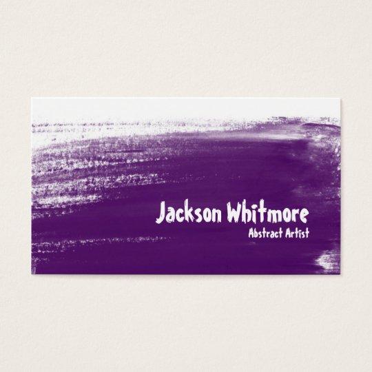Paint Strokes - Purple Business Card