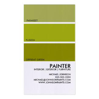 Paint Swatch Business Card