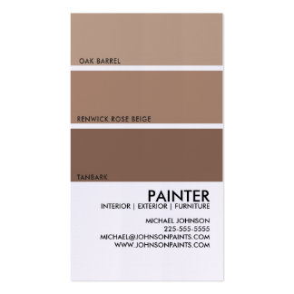 Paint Swatch Double-Sided Standard Business Cards (Pack Of 100)