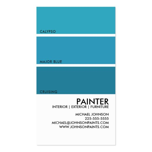 Painter business cards page2 bizcardstudio for Painter business card template