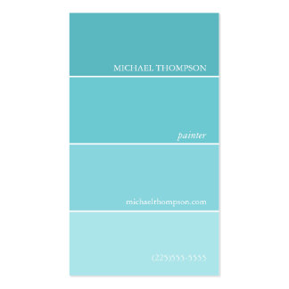 Paint Swatch Business Cards