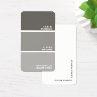 Paint Swatch | Warm Grey Paint Chips Business Card