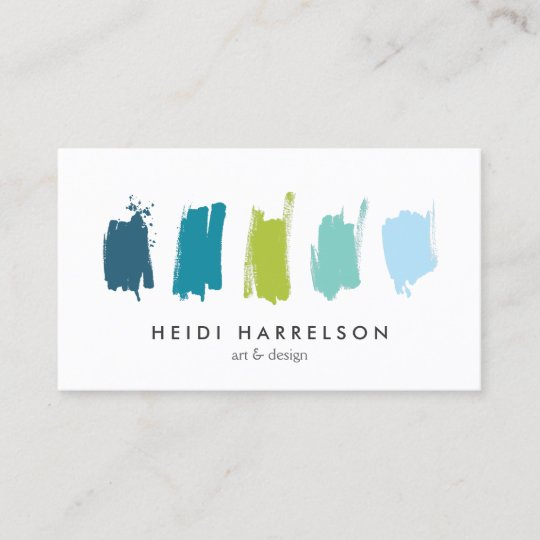 paint swatches blue green business card zazzle com