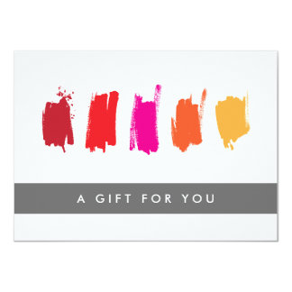 Paint Swatches Red/Orange Gift Certificate Card