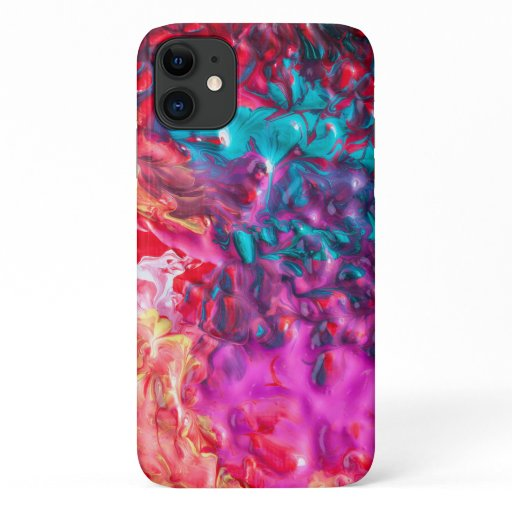 Paint swirl abstract colorful art iPhone 11 case