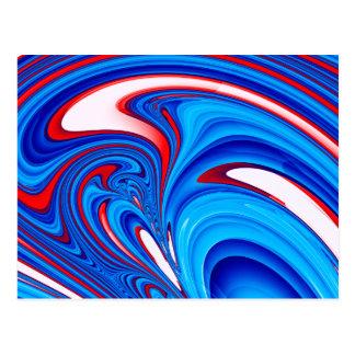Paint Swirl Postcard