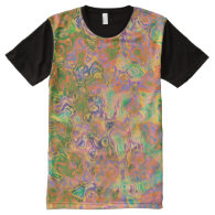 Paint Swirls Abstract All Over Print Shirt All-Over Print T-shirt