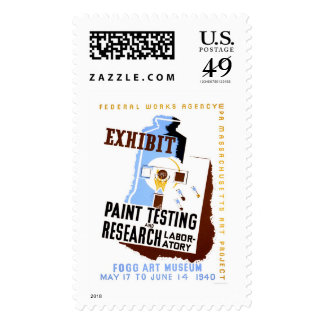 Paint Testing Exhibit 1940 WPA Stamps