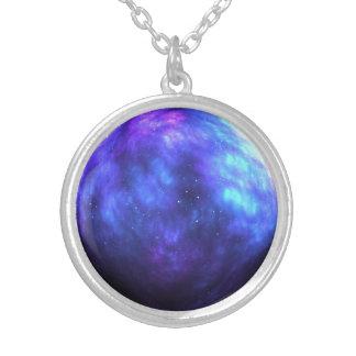 Paint the sky round pendant necklace