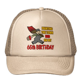Paint The Town 65th Birthday Gifts Hat