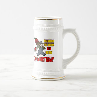 Paint The Town 70th Birthday Gifts 18 Oz Beer Stein