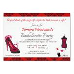 "Paint the Town Bachelorette Party 5"" X 7"" Invitation Card"