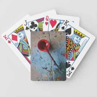 Paint the Town Red Bicycle Playing Cards
