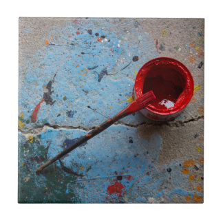 Paint the Town Red Ceramic Tile