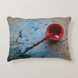 Paint the Town Red Decorative Pillow