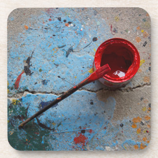 Paint the Town Red Drink Coaster