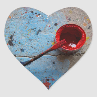 Paint the Town Red Heart Sticker