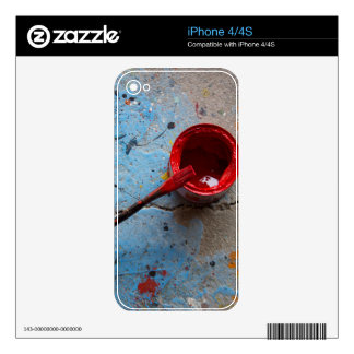 Paint the Town Red iPhone 4 Skins