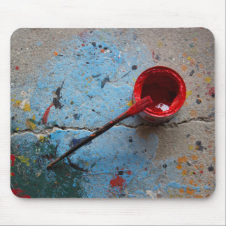 Paint the Town Red Mouse Pad