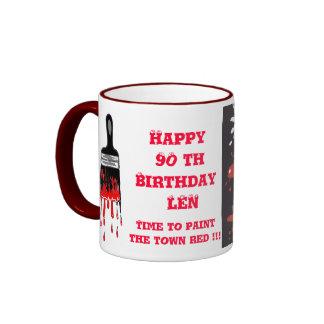 """Paint the town red mug"" Ringer Mug"