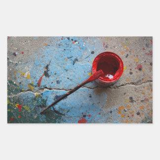 Paint the Town Red Rectangular Sticker