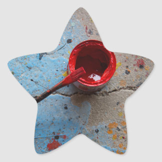 Paint the Town Red Star Sticker