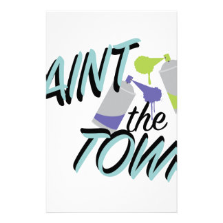 Paint The Town Stationery