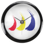 Paint-The-Wind Splashy Sails Aqua Clock