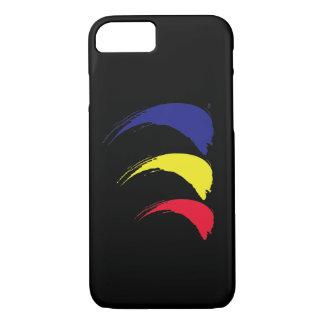 Paint-The-Wind_Splashy Sails_on black iPhone 8/7 Case