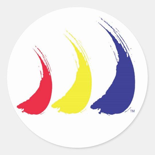 Paint-The-Wind Splashy Sails_sticker Classic Round Sticker