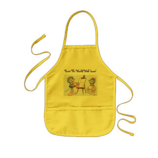 Paint The World With Love! Kids' Apron