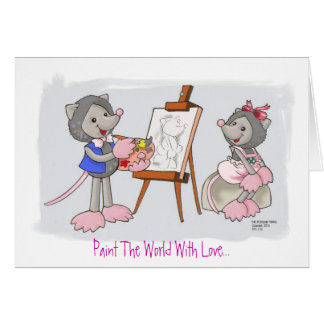 Paint The World With Love... Stationery Note Card