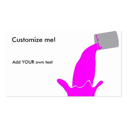 Paint tin - magenta business card template