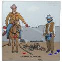 Paint Town Cowboys Cloth Napkins