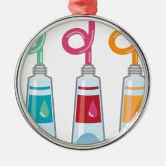 Paint tubes metal ornament