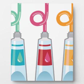 Paint tubes plaque