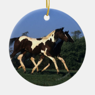 Paint Yearlings Running Christmas Tree Ornament