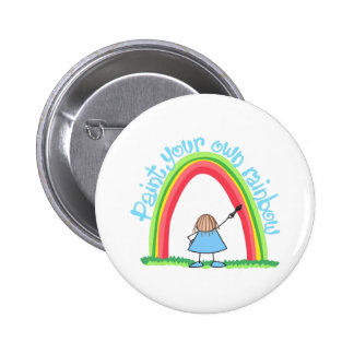PAINT YOUR OWN RAINBOW BUTTON