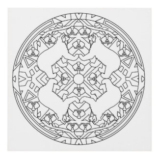 Paint Your Own Wall Panel Mandala Spectacled Bears