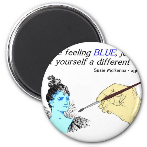 Paint yourself a different color 2 inch round magnet