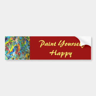 Paint Yourself Happy Bumper Sticker