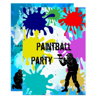 Paintball 11th Birthday Card