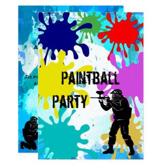 Paintball 17th Birthday Card
