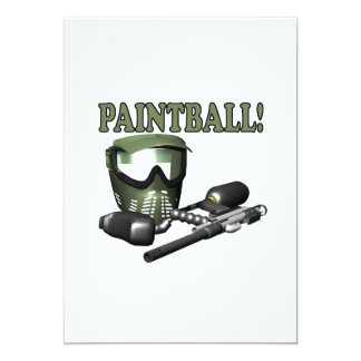 Paintball 2 5x7 paper invitation card