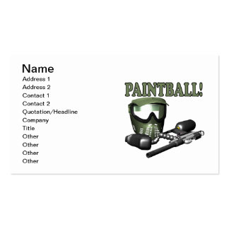Paintball 2 Double-Sided standard business cards (Pack of 100)