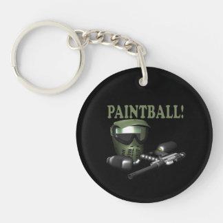 Paintball 2 llavero redondo acrílico a una cara